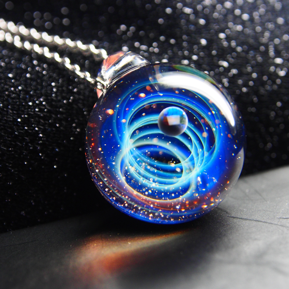 Nebula Space Universe Galaxy Necklace Stars Glass Ball Pendant Crystal Collares Planet Pattern Chain Necklace For unisex