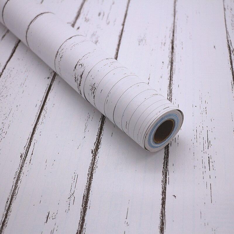 PVC Self-adhesive Wallpaper Wood Grain Wall Paper Bedroom Living Room Furniture Wallpaper Sticker Factory Wholesale
