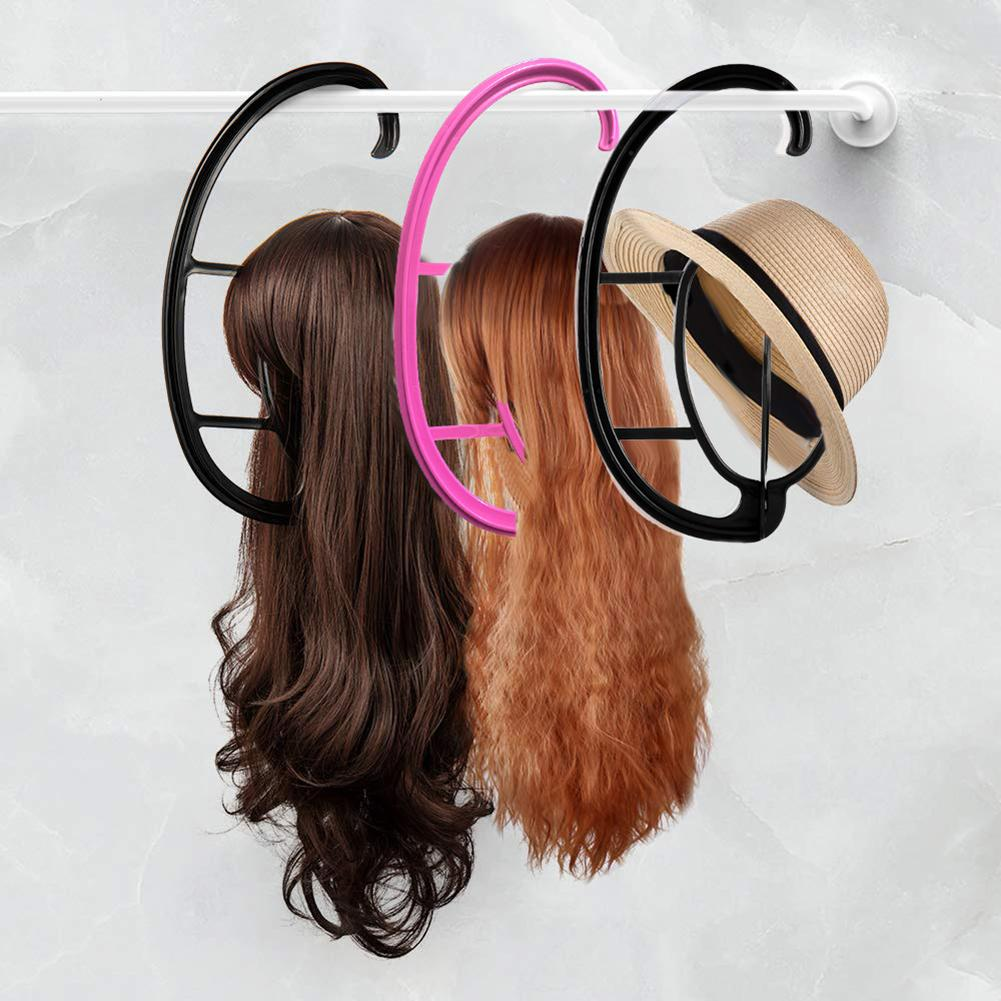 Portable Wig Hanger Salon Barber Shop Hanging Hats Holder Dryer Display Stand Wig Accessory Wig Stand Rack Both Long Short Wigs