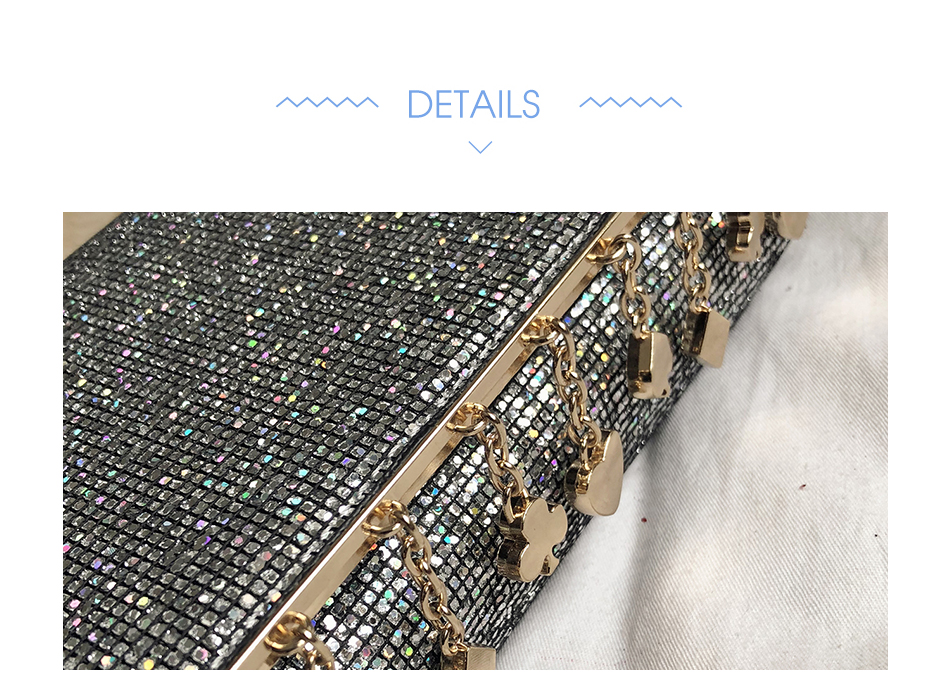 Hda67369419c84911ac880dcfe5958f354 - Women Sequin Glitter Evening Clutch Bag Ladies Sparkly Design Wedding Party Shiny Handbag Lady Chain Metal Shoulder Bag