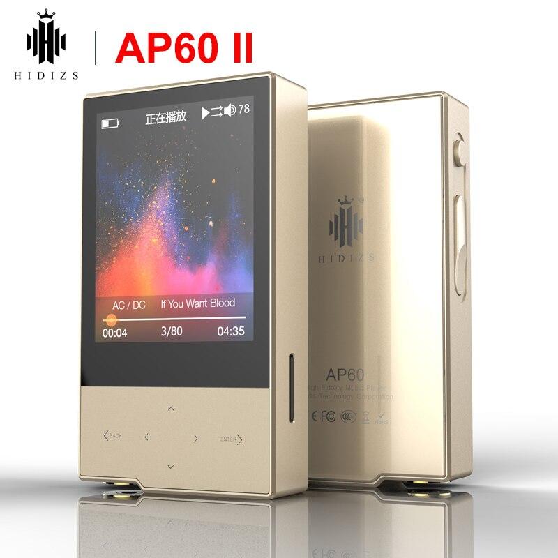 Hidizs AP60 II HiFi portable Bluetooth 4.0 apt-x DSD USB DAC FLAC AAC APE MP3 mini lecteur de musique AKM4452VN MAX97220A AP60II