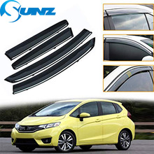 цена на Side window deflectors For Honda FIT JAZZ 2008 2009 2010 2011 2012 2013 hatchback Door visor protector rain guard Car Styling