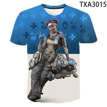 3D T-shirt Apex Legends 3D Printed T Shirt Men Women Children  Summer Short Sleeve Tops Tees Boy Girl Kids Tops Cool Tees 1