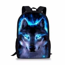 HaoYun Fashion Childrens Backpack Cartoon Fantasy Wolf Pattern Toddler Kids School Book Bags Animal Womens Travel