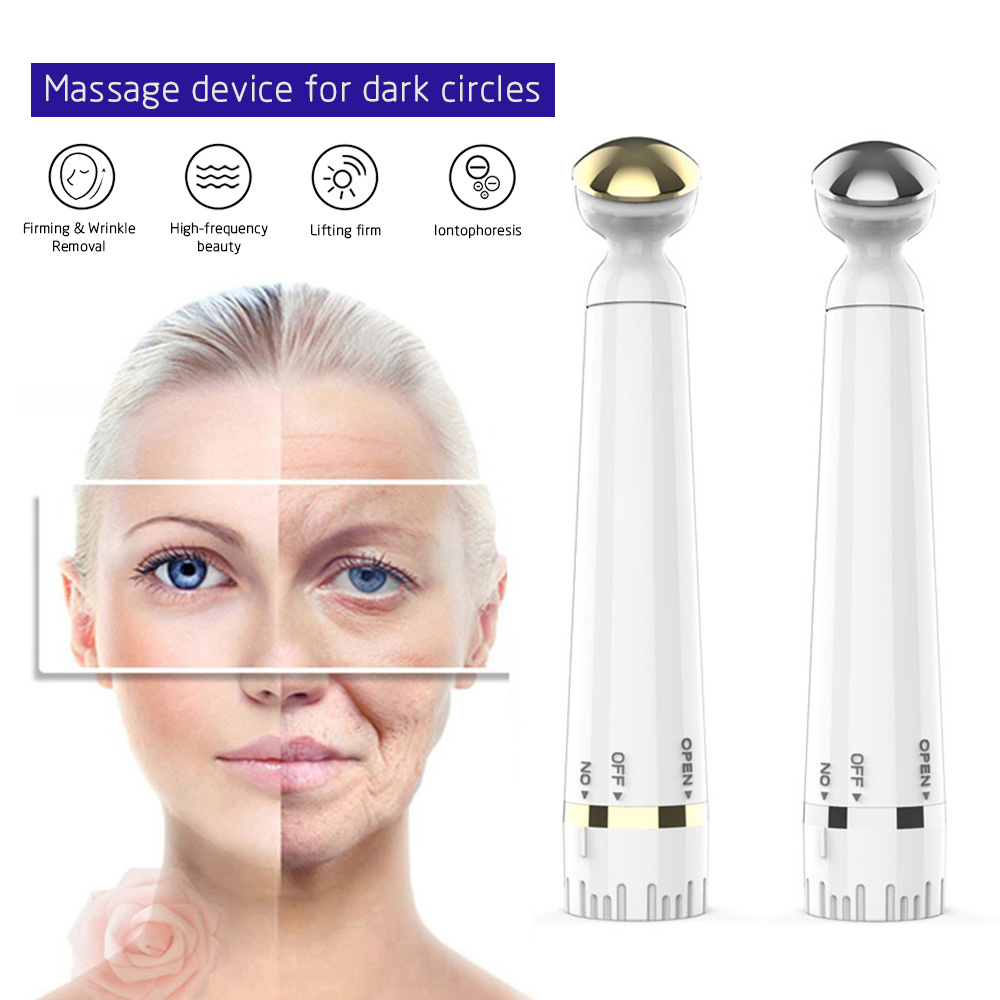Mini Electric Vibration Eye Massager Anti-Ageing Wrinkle Dark Circle Pen Removal Rejuvenation Beauty Care Portable Pen
