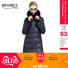 MIEGOFCE Coat Jacket Collection Women Parka Rabbit-Fur Hot Length Winter Medium Thick