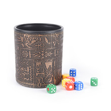 Di alta Qualità 1pc In Pelle Marrone Rune Tazza di Dadi Per Dadi E Carte Gioco di Dadi KTV Potabile dadi Senza Dadi(China)