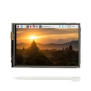 Image 3 - Raspberry Pi 4รุ่นB + + แหล่งจ่ายไฟ + SD Card 64GB + ฮีทซิงค์อุปกรณ์เสริม3.5นิ้วหน้าจอสัมผัส/พัดลม & HDMI CableสำหรับRPI 4
