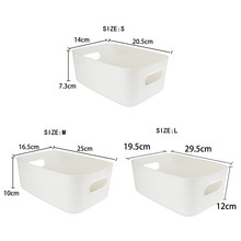 Desktop Plastic Kitchen Sundry Box Storage Box Organizer Container for Desk Cosmetics Girl Snack