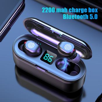 TWS Bluetooth słuchawki z mikrofonem sterowanie dotykowe słuchawki bezprzewodowe HIFI Mini słuchawki douszne Sport Running Heasets HD Call tanie i dobre opinie BNARQP Dynamiczny CN (pochodzenie) wireless 120dB Do kafejki internetowej Do gier wideo Zwykłe słuchawki do telefonu komórkowego