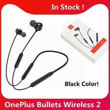 OnePlus-auriculares inalámbricos Oneplus Bullets 2, cascos originales con Control magnético híbrido, carga rápida