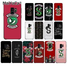MaiYaCa Riverdale South Side Serpents Snake TPU Soft Phone Case for Samsung S9 S9 plus S5 S6 S6edge S6plus S7 S7edge S8 S8plus(China)