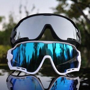 Image 4 - 4 objektiv Polarisierte Gläser Radfahren Im Freien Sport Radfahren Brille Mountainbike Radfahren Brillen Männer UV400 Bike Zyklus Sonnenbrille