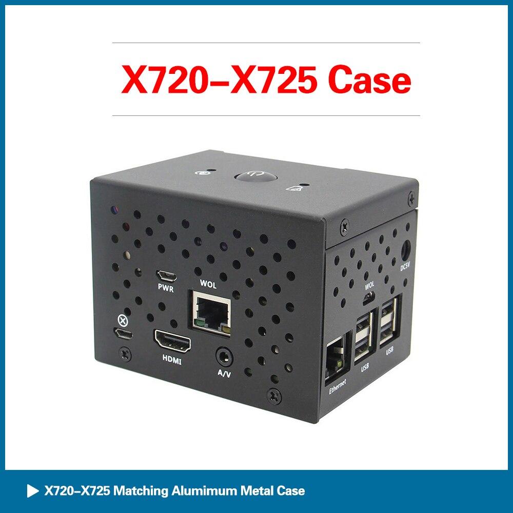 S ROBOT Raspberry Pi X720/X725 Power Management Board Aluminum Case Kit For Raspberry Pi 3B+/3B RPI134