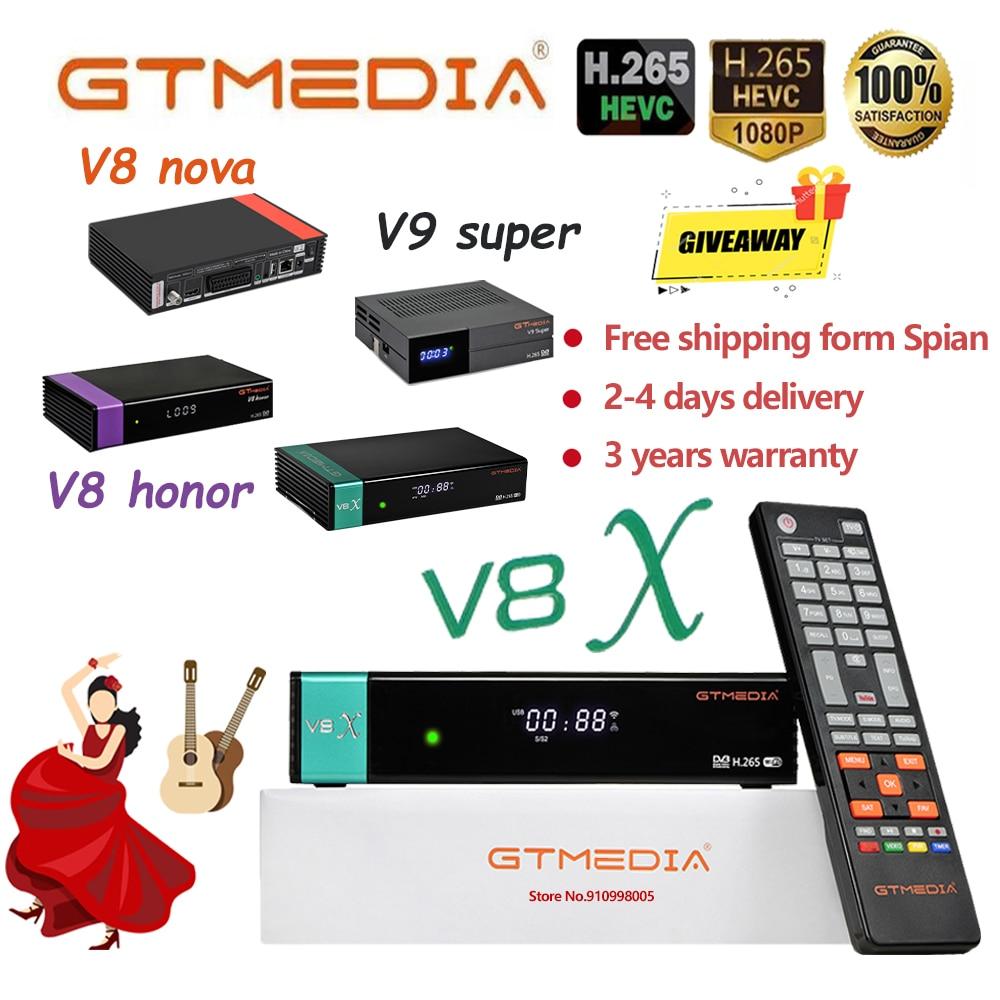 Приемное устройство Gtmedia V8X обновления форма Gtmedia V8 Nova/Honor жира-цифра спутниковый телевизионный ресивер gtemdia V9 супер встроенный WI-FI DVB-s2 h2.65 пол...