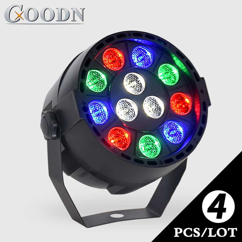 Pocket 12x3W <font><b>LED</b></font> <font><b>Par</b></font> <font><b>RGB</b></font> 3in1 Tricolor DJ <font><b>LED</b></font> Stage Light <font><b>Dmx</b></font> 512 Control Music Activated Light Projector for Home Party Lights image