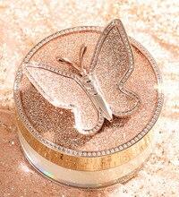 Motyl sypki proszek ustawienie kontrola oleju w proszku przezroczysty nieusuwający makijaż odporny na pot niewidoczny proszek porów TSLM1