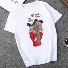 Women's T-Shirts Mother's Day Super Mom Print Vogue Tops Female T-shirt Casual Woman Tshirt