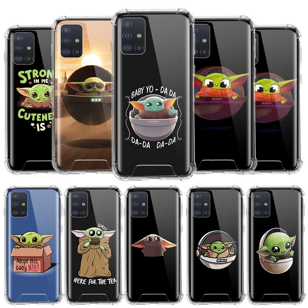 Популярный спортивный чехол BaBy Yoda для Samsung Galaxy A51, A71, A41, A31, A21s, A21, M51, M31, M21, противоударные Чехлы для телефона из ТПУ с подушкой безопасности
