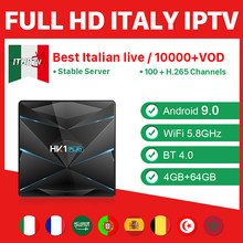 Italy IPTV France Arabic Spain Canada French IP TV HK1 Play Android 9.0 4G+64G BT Box IPTV German Poland Sweden Portugal Belgium(China)