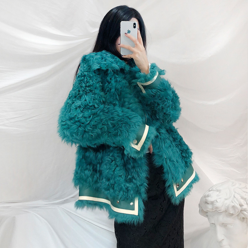 Natural Real Fur Coat Female 100% Wool Winter Clothes 2020 Korean Real Fur Jacket Women Vintage Double Faced Fur Top Hiver 19007