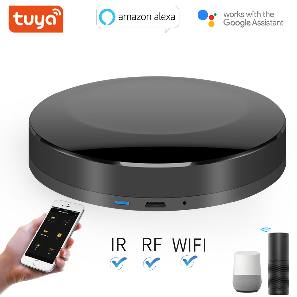 TUYA WIFI+IR+RF Universal Smart Remote Voice Control Alexa Google HOME Smart Home Smart Home Automation Support DOOYA 2