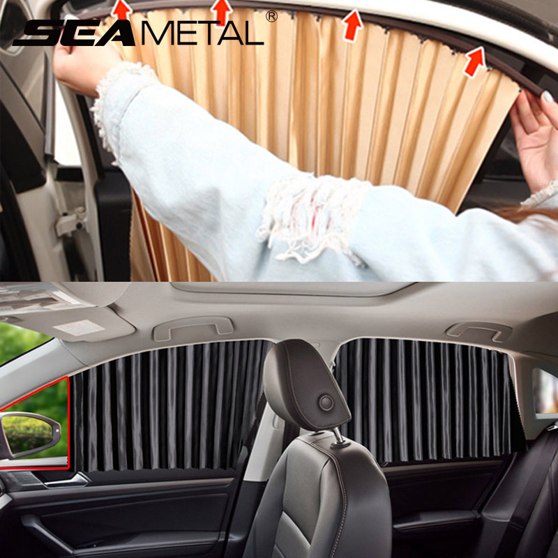 Car Side Window Sunshade Cover UV Protection Car Window Curtain Summer Sunshade Window Protector Auto Sun Shades Car Accessories