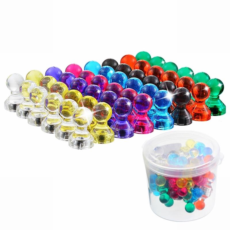 8 цветов * 7 коробка из 56 магнитов, гвозди, картины, магниты, прозрачные маленькие магниты, кнопки-1 коробка