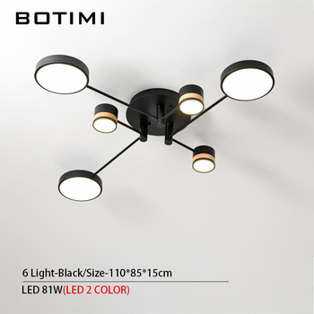 BOTIMI Home Decor LED Ceiling Lights For Living Room Round Metal Ceiling Lamps Surface Mounted Dining Lustres Bedroom luminaires 10