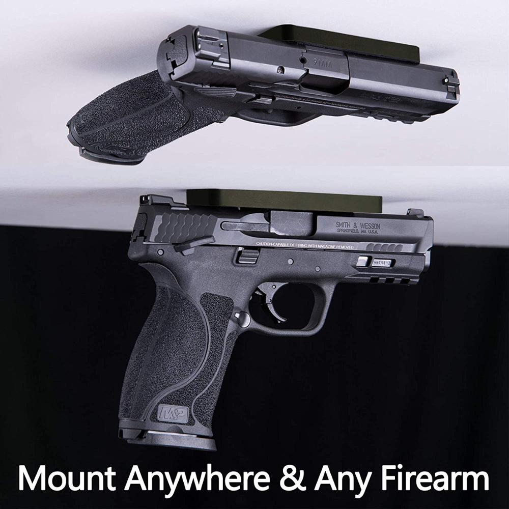 Tersembunyi Gun Mount Magnetic Pistol Pemegang untuk Pistol Revolver Mobil Truk Kursi Kasur Tempat Tidur Glock Taurus G2C 1911 Accessor title=