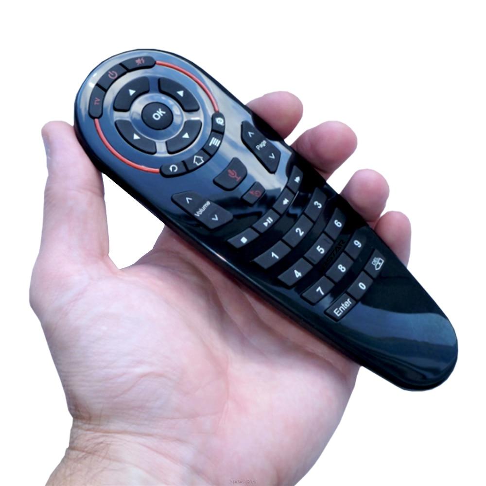 HUACP G30 Air souris 33 touches IR apprentissage gyroscope Google recherche vocale 2.4G mouche Air souris télécommande universelle pour Smart TV TV Box