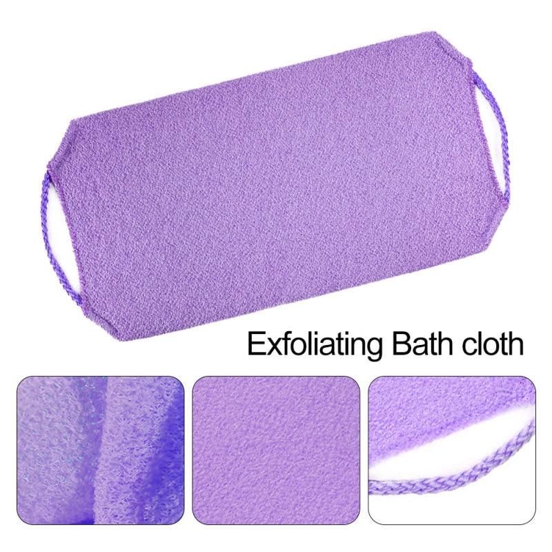 1pc Stretchable Body Clean Exfoliating Neck Back Scrubber Shower Bath Cloth Tool Washcloth 5