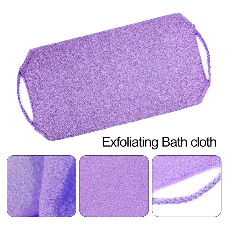 1 шт. Растягивающееся тело очищающее отшелушивающее шея спина скрабер душ ванна ткань инструмент мочалка