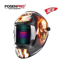 POSENPRO Fire Skull MMA MIG TIG Сварочная маска сварочный шлем Орел для сварочного аппарата для пайки сварочный колпачок для сварки