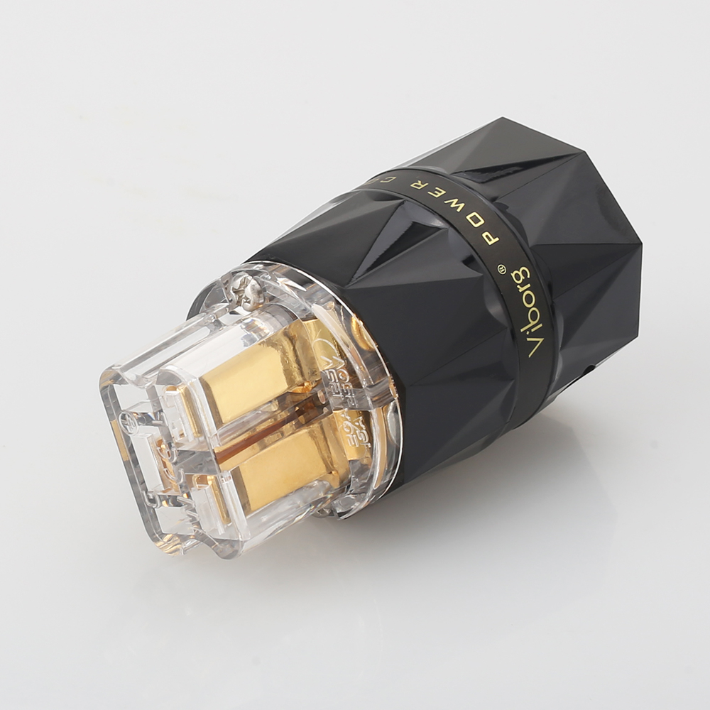 Viborg VF523G Top Clear C19 Gold Plat Pure Copper 20A Power Gold Plated Audio Power IEC Connector Plug 20A IEC 20A C19