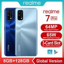 Realme 7 Pro NFC akıllı telefonlar 64MP 8 GB 128 GB 65W hızlı şarj 4500mAh akıllı cep telefonları snapdragon 720G oyun cep telefonu