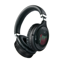 Настоящие беспроводные наушники, 3D стерео Bluetooth гарнитура, складные Игровые наушники с микрофоном, FM, TF карта, наушники с шумоподавлением