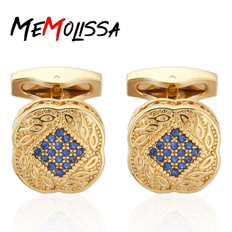 Quality Men's Shirt Cufflinks New Fashion Silver/Gold Lucky Leaves Cufflinks Crystal Metal Cufflinks Free Of Freight
