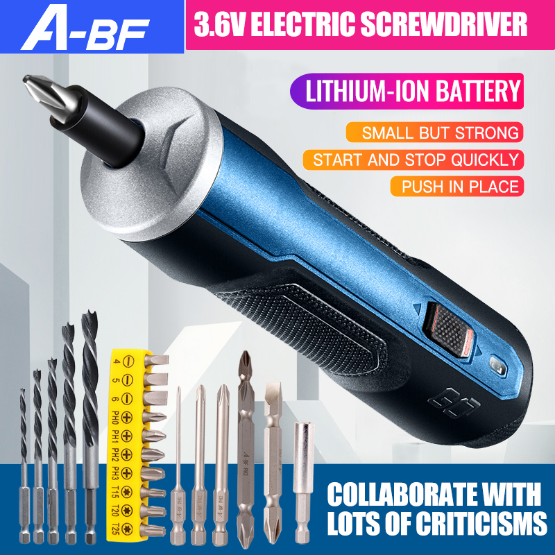 Smart Cordless Electric Screwdriver Rechargeable 3.6V Mini Power Tool 6 Modes Adjustable Torques Screwdriver Tool Kits