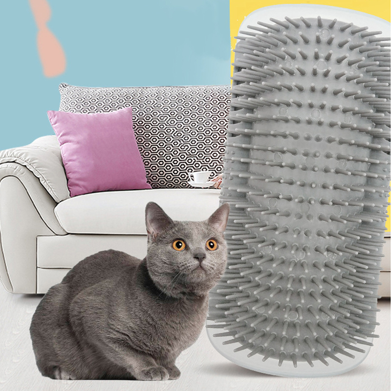 Pet Product For Cat Self Groomer Wall Brush Corner Cat Massage Self Groomer Comb Brush With Catnip Cat Rubs with a Tickling Comb 2