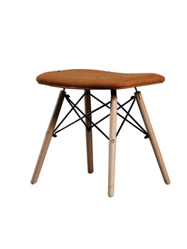 Modern minimalist small apartment creative casual dressing table stool Nordic personality footstool wrought iron shoes bench