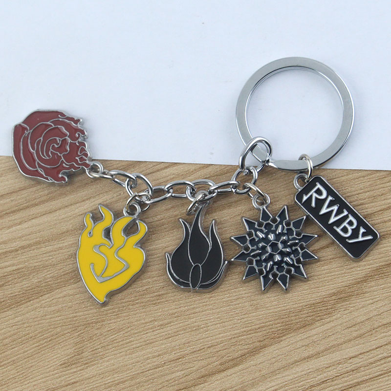 New RWBY key chain Pendant Metal key ring keychain Cosplay Otaku Kids Gift