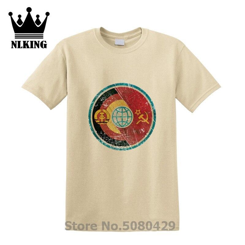 DDR советское соединение космическая Миссия Alliance футболка CCCP Гагарина Футболка с принтом короткий Винтажный стиль рукав Мужская футболка