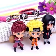 2019 Hot New Naruto Keychain 3D Sasuke/itachi/Kakashi PVC Key Chains Key Rings Pendant Anime random 7cm Doll Key Chain