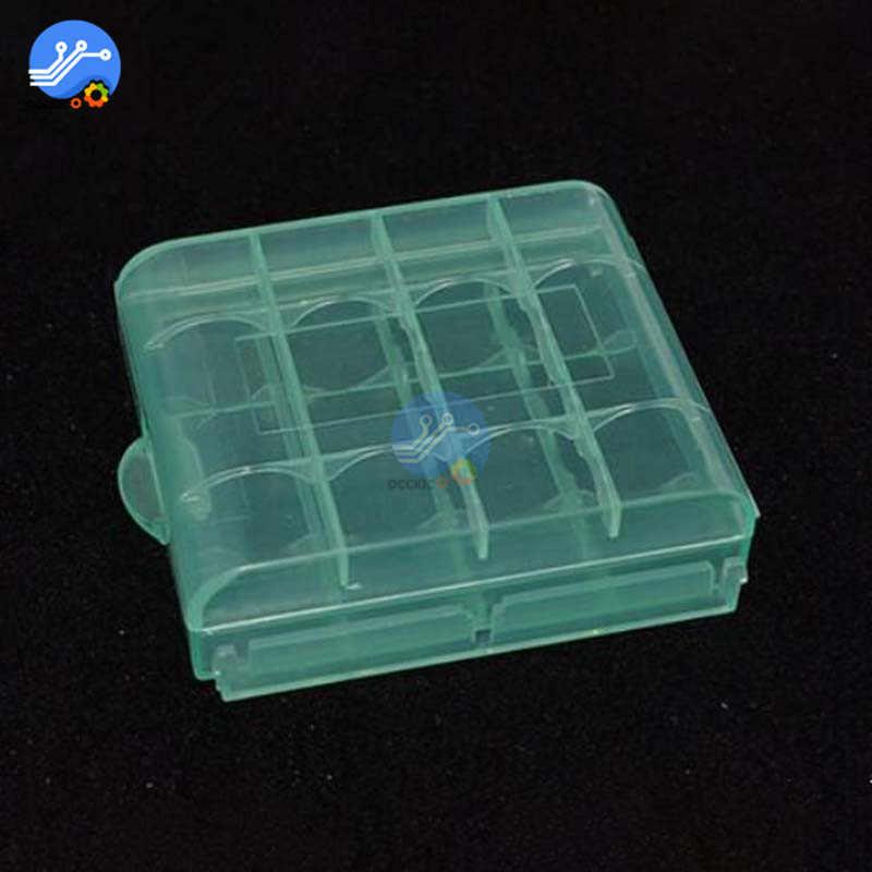 Aa aaa 배터리에 대 한 4 pcs 휴대용 4x 플라스틱 반투명 케이스 홀더 저장소 상자
