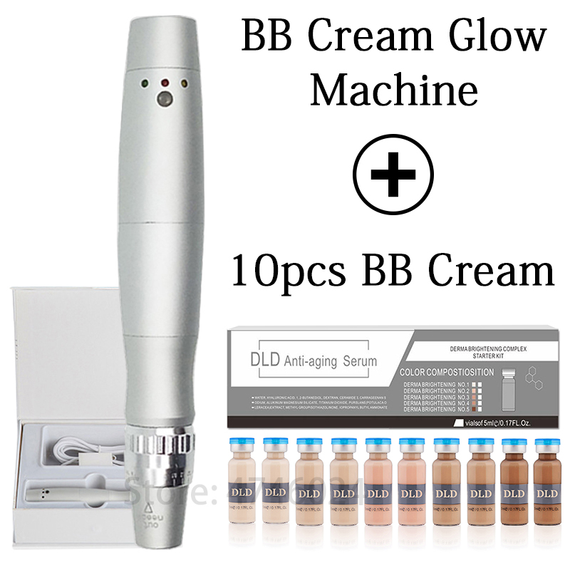 BB Cream Glow Brightening Cream Electric Machine Kit For 5ml BB & CC Creams Makeup Liquid Foundation Remove Wrinkles Whitening