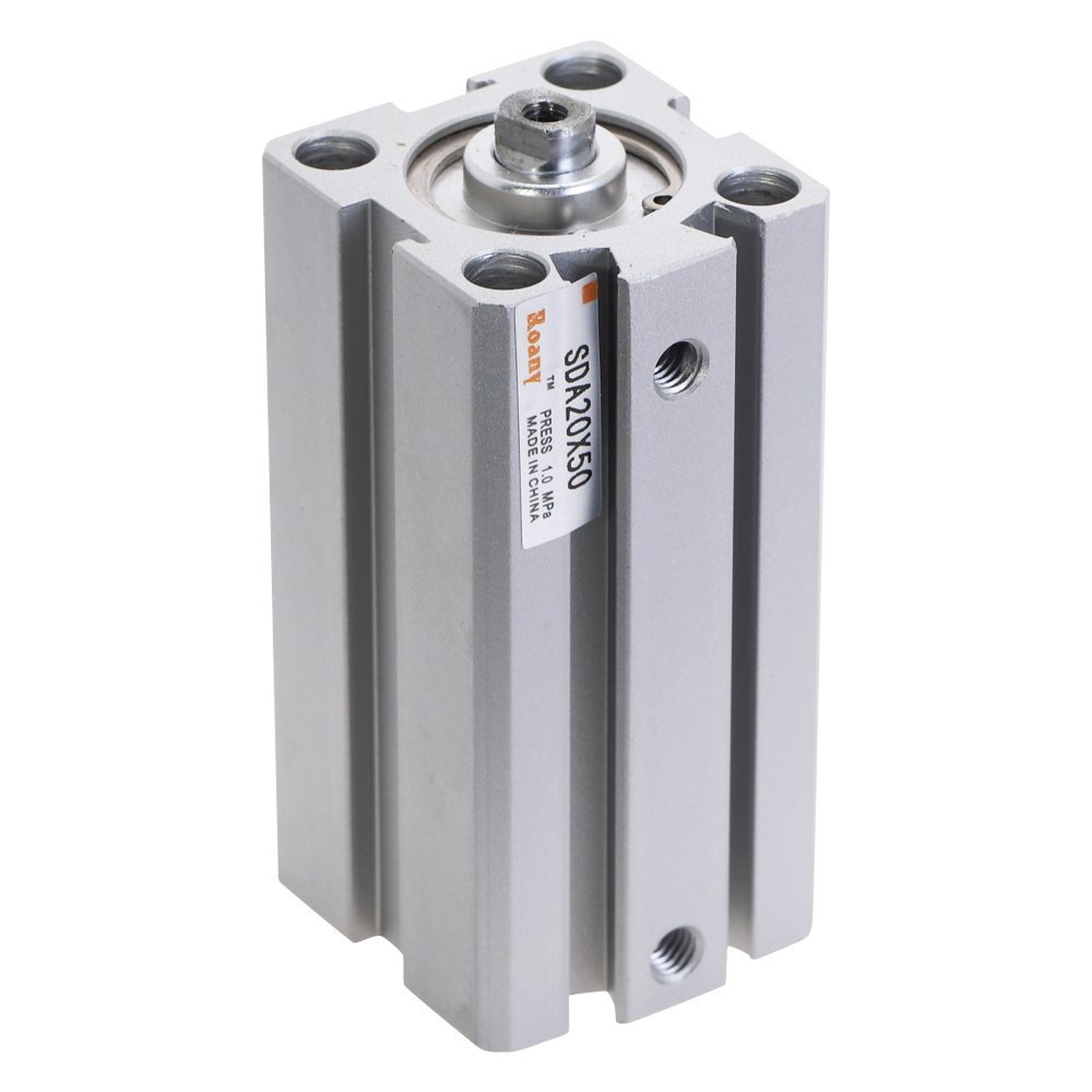 SDA20 SDA series Pneumatic Compact Cylinder 20mm Bore 5 10 15 20 25 30 35 40 45 50 mm Stroke pneumatic air cylinder image