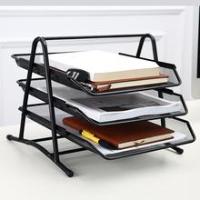 Tray-Rack Desk Anti-Rust Document Metal 3-Layers Assembled File Freely Letter Wide-Entry