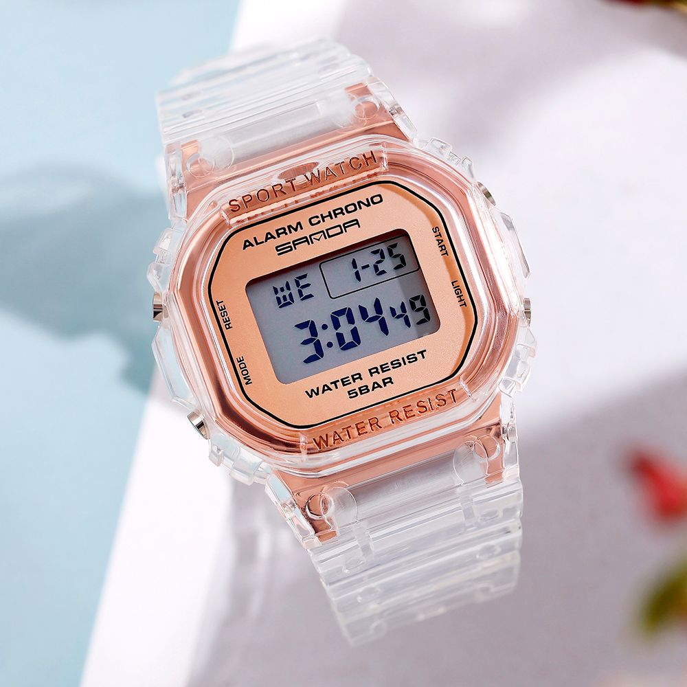 Sanda Couples Watch Man And Ladies Clock LED Sports Relogio Digital Feminino Student Wristwatch Reloj Unisex Watches Hot Sale