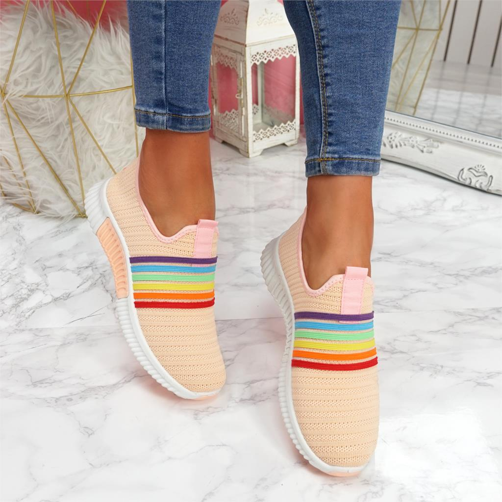 Adisputent  2020 New Fashion Women Sneakers Rainbow Color Mesh Vulcanize Shoes Leisure Shoes Summer Casual Ladies Shoes